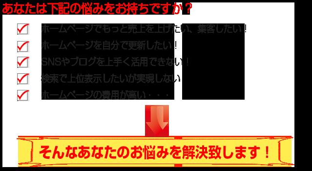 webミラクル5つの悩み解消(ホームページ作成)